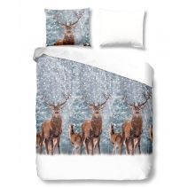 Good Morning Dekbedovertrek Deer (Grey)