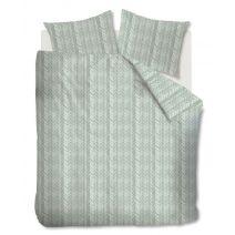 At Home dekbedovertrek Fold (Greygreen)