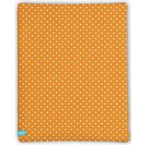 LIEF! Hoeslaken Dots - 40x80 cm - Oranje