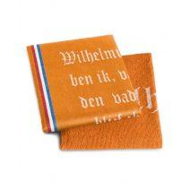 DDDDD Keukenset Wilhelmus (Theedoek + Keukendoek) - Oranje