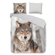 Good Morning Flanel dekbedovertrek Wolf (Multi)