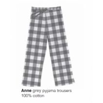 Marieke at Home Long Trouser Anne Check - Grijs