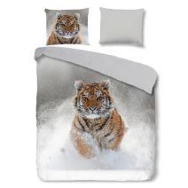 Good Morning Flanel dekbedovertrek Snow Tiger (Grey)