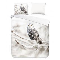 Good Morning Flanel dekbedovertrek Snowy Owl (White)
